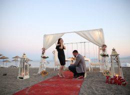 Kumsalda Evlilik Teklifi Organizasyonu Ürkmez