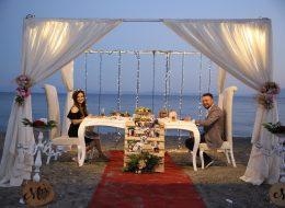 Ürkmez Plajda Evlenme Teklifi Organizasyonu