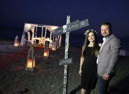 Plajda Evlenme Teklifi Organizasyonu