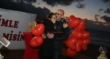 Bostanlı da Evlilik Teklifi İzmir Organizasyon Evlenme Teklifi
