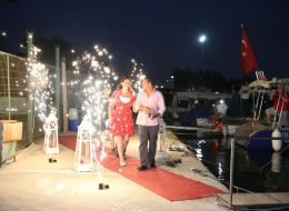 Uzaktan Kumanda ile Ateşlemeli Yer Volkanı Gösterisi İzmir