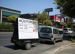 İzmir Reklam Römorku ve Sesli Anons Aracı Kiralama Açılış Organizasyonu