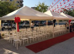 Sandalye Çadır ve Gölgelik Kiralama Mersin Açılış Organizasyonu
