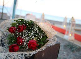 Evlenme Teklifi Organizasyonu Kırmızı Gül Buketi