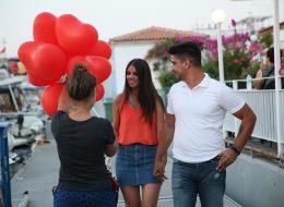 Sürpriz Evlilik Teklifi Organizasyonu Kalpli Uçan Balon Buketi