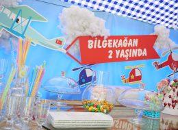 Temalı Doğum Günü Partisi Masa Süsleme İzmir Organizasyon