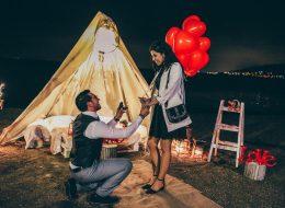 Urla Sahilde Evlilik Teklifi Organizasyonu