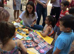 Çocuk Şenliği Organizasyonu Yüz Boyama Anı