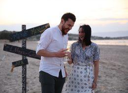 Plajda Sürpriz evlenme teklifi organizasyonu