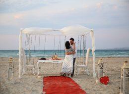 Evlenme Teklifi Organizasyonunda Romantik Dans