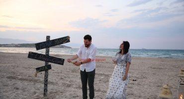 Plajda evlilik teklifi organizasyonu-Sürpriz evlenme teklifi organizasyonu