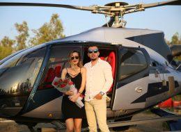 Kırmızı Gül Buketi ve Helikopterde Evlilik Teklifi Organizasyonu