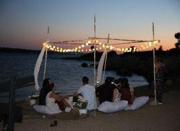 Gün Batımında Adada Evlilik Teklifi Organizasyonu Çeşme