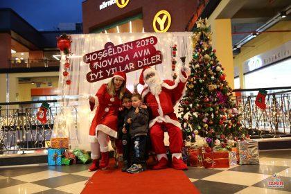 Noel Baba ve Noel Anne Resim Paneli Alışveriş merkezi etkinlikleri