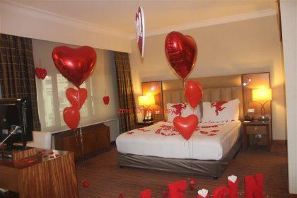 Otel Odası Süsleme Evlilik Teklifi Organizasyonu