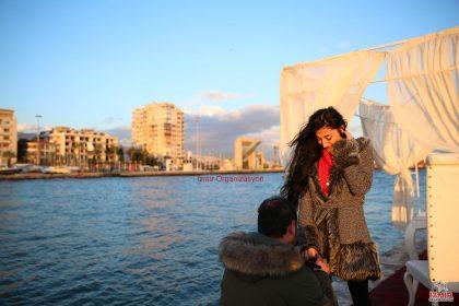 Yelken Kulübü'nde Evlilik Teklifi Organizasyonu İzmir Organizasyon