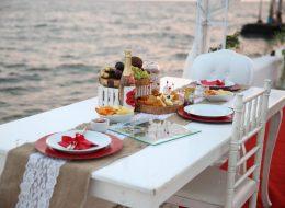Masa Süsleme ve KSK Yelken Kulübünde Evlenme Teklifi Organizasyonu İzmir