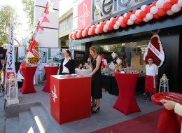 İzmir Kokteylli Açılış Organizasyonu Zincir Balon Süsleme