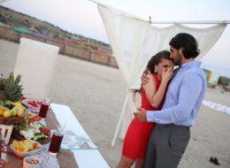 İzmir Evlilik Teklifi Organizasyonu Kumsalda Evlenme Teklifi