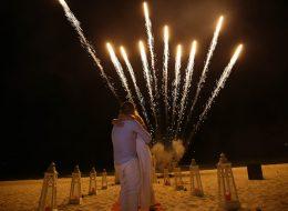 Havai Fişek Gösterisi Kuşadası Kumsal Evlilik Teklifi Organizasyonu