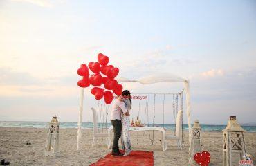 Kumsalda Evlilik Teklifi Organizasyonu Paketi İzmir