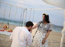 Plajda Evlenme Teklifi Organizasyonu Evlilik Teklifi Anı