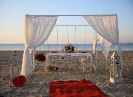 Gazebo Süsleme Işık Şelalesi ve Sahilde Evlenme Teklifi Organizasyonu