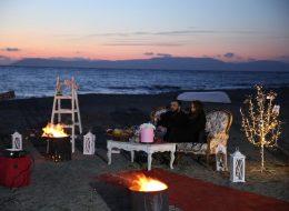 Gün Batımında Kumsalda Evlilik Teklifi Organizasyonu