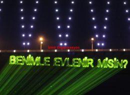 Evlilik Teklifi Organizasyon Lazer Gösterisi İzmir