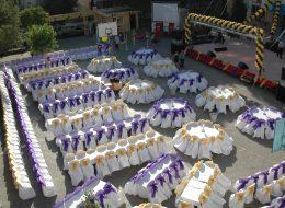 Zincir Balon Süsleme ve Sandalye Kiralama İzmir Mezuniyet Organizasyonu