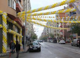 Renkli Balon Süslemeleri İzmir