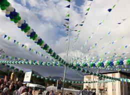 Üçgen Bayrak ve Zincir Balon Süsleme İzmir