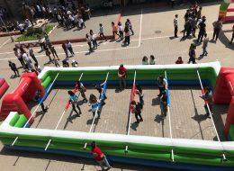 Canlı Langırt Oyun Parkurunda Rekabet Anları