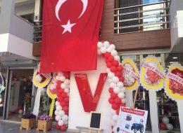 Mustafa Çoban Vestel Mağazası Açılış Organizasyonu Kapı Takı Süsleme