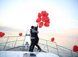 Teknede Evlenme Teklifi Organizasyonu ve Heyecanlı Dakikalar