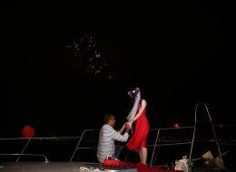 Mutluluk Teknesi'nde Evlilik Teklifi Anı