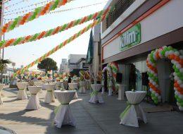 Renkli Zincir Balon Süsleme Hizmeti İzmir Organizasyon