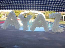 İsme Özel Şekilli Balon Servisi İzmir Organizasyon