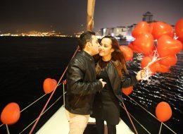 Uçan Balonlar Eşliğinde Romantik Evlilik Teklifi Organizasyonu