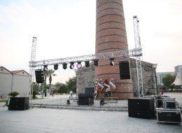 Profesyonel Ses Sahne ve Işık Sistemi Kiralama Işık Şelalesi Temini İzmir Organizasyon