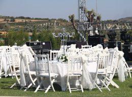 Tül ve Çiçek Süsleme Servisi ve Sandalye Kiralama