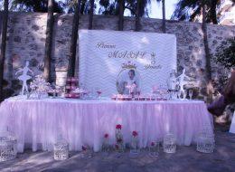 Doğum Günü Organizasyonu Tül ve Çiçek Süsleme İzmir