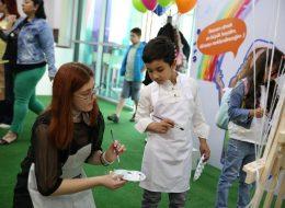 Turkcell Global Çocuk Şenlik Organizasyonu Uçan Balon Süsleme ve Minder Kiralama