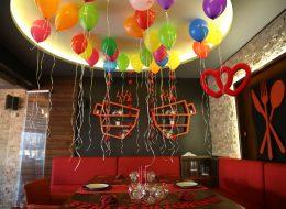 İzmir Doğum Günü Organizasyonu Uçan Balon Süslemeleri