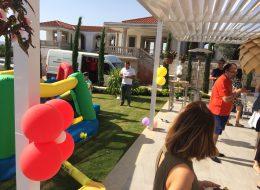 Çocuk Doğum Günü Organizasyonunda Renkli Papatya Balon Süslemeleri