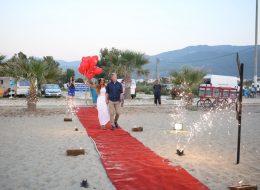 Sahilde Evlenme Teklifi Organizasyonu