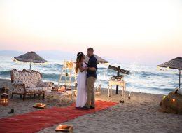 Kuşadası Plajda Evlilik Teklifi Organizasyonu