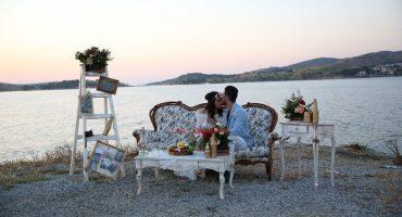Vintage Dekor İle Evlilik Teklifi Organizasyonu Çeşme