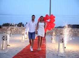 Kumsalda Evlenme Teklifi Organizasyonu Yer Volkanı Gösterisi Çeşme