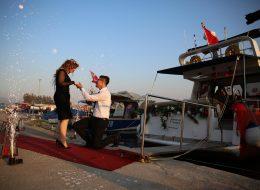 Teknede Evlilik Teklifi Organizasyonu Yer Volkanlarının Görsel Şöleni